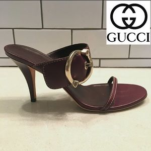 Gucci Leather Heeled Sandal